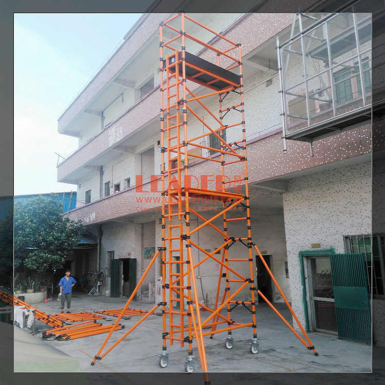 绝缘爬梯玻纤脚手架 移动快装型单宽组合